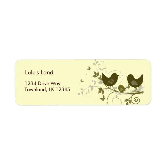 Family of Birds Return Address Label