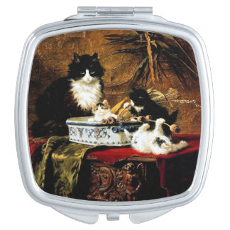 Family of Cats, Henriëtte Ronner-Knip Travel Mirrors