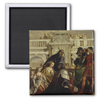 Family of Darius before Alexander the Great 2 Square Magnet