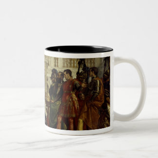 Family of Darius before Alexander the Great 2 Two-Tone Coffee Mug