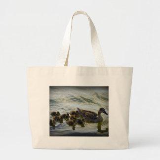 Family of Ducks Jumbo Tote Bag