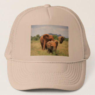 Family of Elephants, Kenya, Africa Trucker Hat