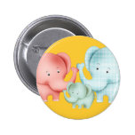 Family Of Elephants Mum Dad And Baby Badges