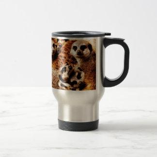 Family of Meerkats Stainless Steel Travel Mug