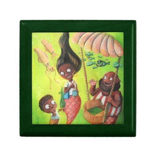 Family of Mermaids Trinket Box