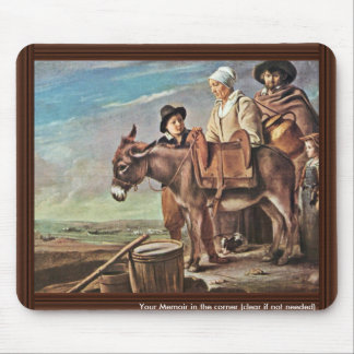 Family Of Milk Seller By Le Nain Louis Best Quali Mousepad