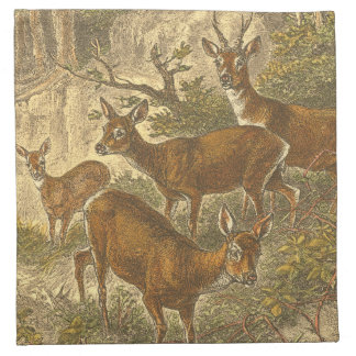 Family of Roe - Deers in a Forest Napkin