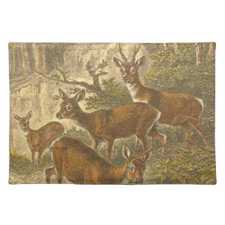 Family of Roe - Deers in a Forest Placemat