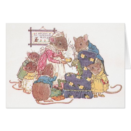 Family of Six Mice Card