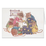 Family of Six Mice Greeting Card