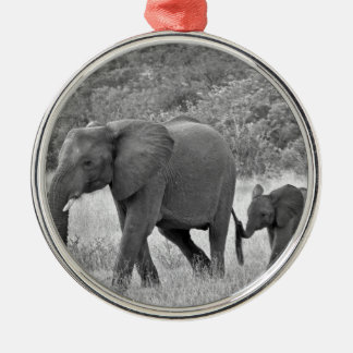 Family of South African elephants Christmas Ornament
