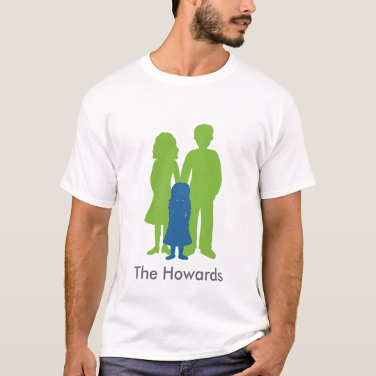 Family of Three with Daughter T-Shirt