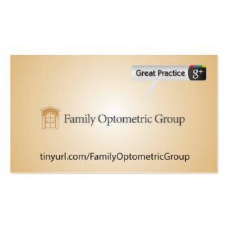 Family Optometric Group Double-Sided Standard Business Cards (Pack Of 100)