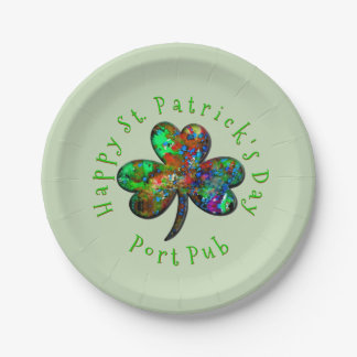 Family or Business Happy St. Patrick's Day 7 Inch Paper Plate