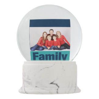 Family Personalised Photo Snow Globes