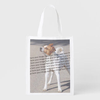 Family Pet Photo Grocery Bag