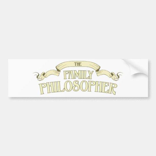 Family Philosopher Bumper Sticker