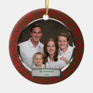 Family Photo Christmas Ornament