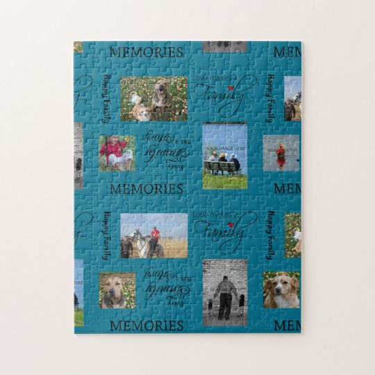 Family Photo Collage Jigsaw Puzzle