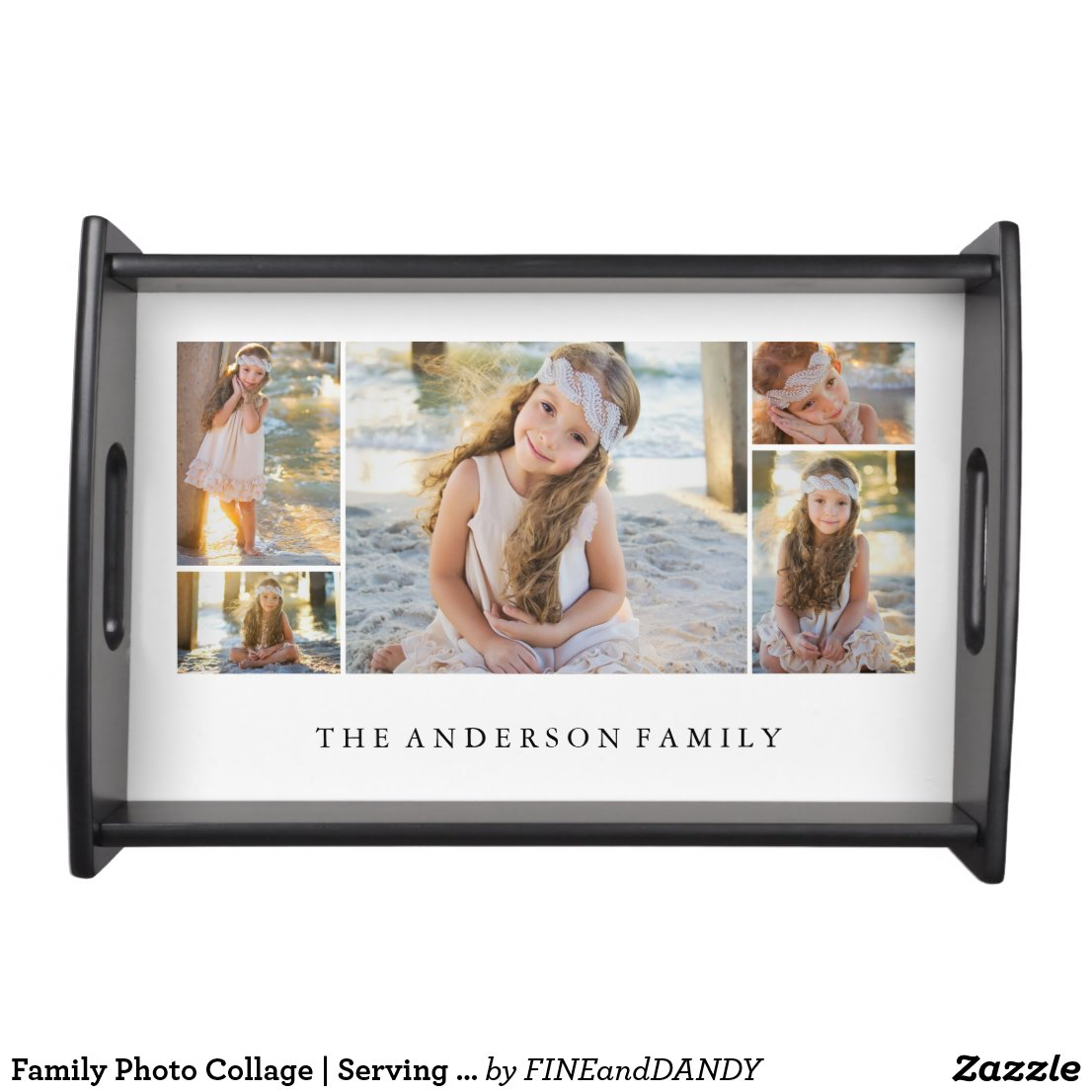 Family Photo Collage Serving Tray