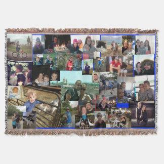 Family Photo Collage Throw Blanket
