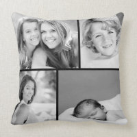 Family Photo Collage Cushion