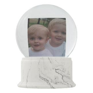 Family photo custom gift snow globes