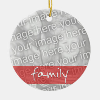 Family Photo Custom Ornament