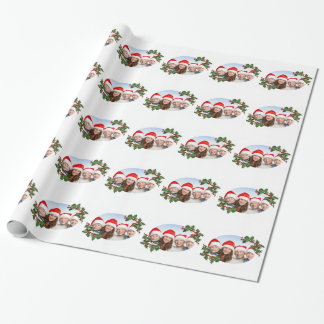 Family Photo Customizable Christmas Wrapping Paper