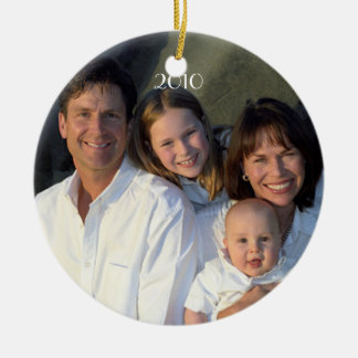 Family Photo Date With Current Year Christmas Christmas Ornament