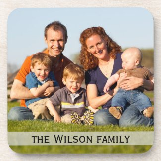 Family Photo Drink Coasters