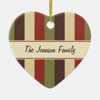 Family Photo Heart Custom Text Christmas Ornament