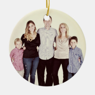 Family Photo Holiday Ornament (Customisable)