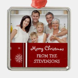 Family Photo Merry Christmas Ornament