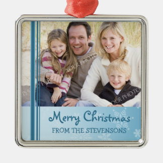 Family Photo Merry Christmas Ornament