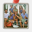 Family Photo Ornament Silver Metal Photo Ornament