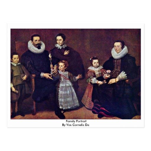 Family Portrait By Vos Cornelis De Postcard
