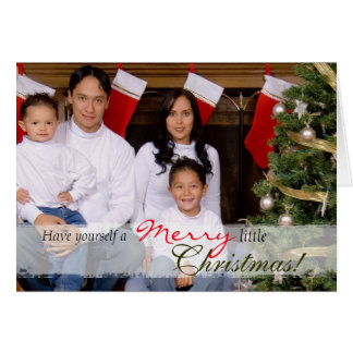 Family Portrait Christmas Card