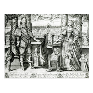 Family Portrait of Charles I Postcard