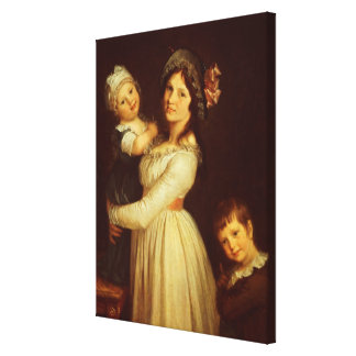 Family portrait of Madame Anthony and her children Canvas Print
