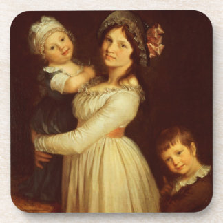Family portrait of Madame Anthony and her children Drink Coasters