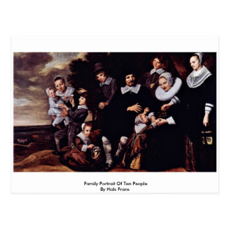 Family Portrait Of Ten People By Hals Frans Post Cards