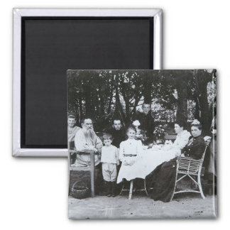 Family portrait of the author Leo N. Tolstoy Magnet