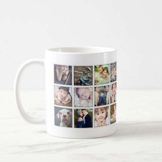 Family Portrait Photo Collage Mug