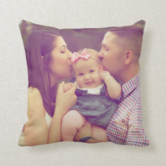 Family Portrait Photo Pillow