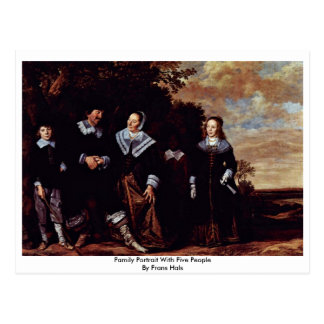 Family Portrait With Five People By Frans Hals Postcard
