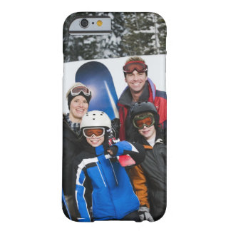 Family portrait with snowboards barely there iPhone 6 case