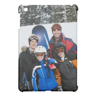 Family portrait with snowboards case for the iPad mini