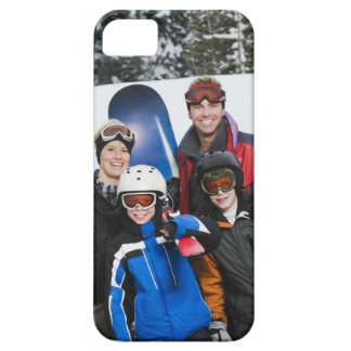 Family portrait with snowboards iPhone 5 cover