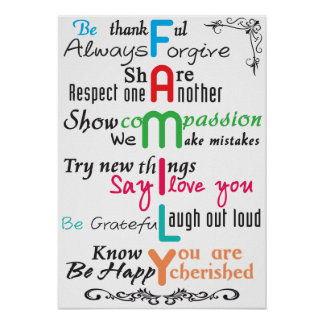 Family Poster Paper